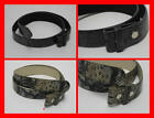 FREE UK P/P - SNAP ON - FAUX Snake Skin Leather PU Belt For Buckle W 28 - 42
