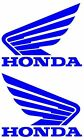 "New Left & Right 5"" Wide X 4"" High Honda Wing Vinyl Decals 12 Colors to Choose"