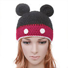 KIDS NOVELTY MICKEY MOUSE CHILDS HAND CROCHETED WINTER HAT