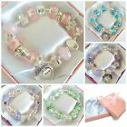 GIRLS/ MOTHERS DAY/BIRTHDAY CHARM BRACELETS 21ST/18TH/16TH/13TH/30TH GIFT BEAD