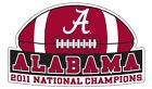 BCS 2011 Alabama National Champions Banner Football Car Magnet By SDS Design