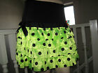 New Black neon Yellow blue spotted RaRa tiered Skirt  Punk Party Dance Festival