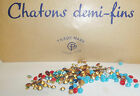 VINTAGE FRENCH MADE SUPER DEMI-FIN RHINESTONE CHATONS JEWELLERY MAKING SEWING