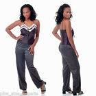 Plus Size Lingerie Size 1X 2X or 3X Black Pajamas with Camisole Top VX2067X