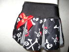 NEW Girls Black,white,red skulls,crossbones  Goth,rock,punk,Pirate Skirt