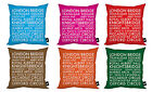 LONDON FAMOUS ICONIC NAMES BUS BLIND DESIGN CUSHION KEEPSAKE MODERN LONDON 2012