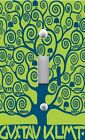 Light Switch Plate Switchplate Cover KLIMT TREE OF LIFE - BLUE ON GREEN