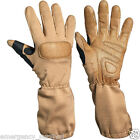 Extra Long Cuff Kevlar Tactical Shooting Gloves Tan - FREE SHIPPING
