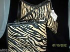 "Charter Club  ""City straw""  Zebra Print Gift with Purchase Wristlet Shoulder Bag"