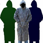 MENS WATERPROOF RAIN COAT LONG KAGOUL CAGOULE KAGOOL LIGHTWEIGHT MAC WITH BAG BZ