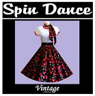50s 60s PLUS SIZE Vintage Style Rockabilly Rock n Roll Circle Skirt