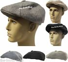 MENS LADIES BOYS BLACK 8 PANEL GATSBY BAKER BOY FLAT CAP HAT PREFORMED PEAK HA13