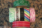 Japanese Washi Masking Craft Deco Tape 15m Choice of 7 Designs Dots Snowflakes