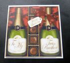 To My Twin Brother Champagne & Chocs Birthday Card - 4 colours
