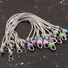 Wholesale 5-Colour Enamel Heart Lobster Clasp European Charms Bracelets Chain
