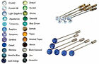 24 Colours Set Wedding Crystal 7mm Tie Cravat Pins made with SWAROVSKI ELEMENTS