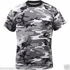 Adult T-Shirt  Gray Urban Camouflage Grey City Fashion Camo Tee
