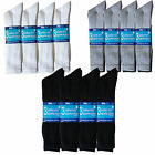 12 pairs mens Cotton Rich Sport Socks work  black white & mix  men  size 6-11 f