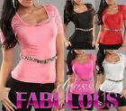 NEW SEXY WOMEN'S LACE TOP SIZE 6-8-10-12 PARTY CASUAL CLUBBING WEAR BLACK WHITE