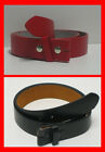 "Snap On - Genuine Leather + PU Bonded - Belt for 1.5"" Buckle 30 to 48 Red Black"