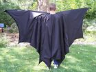 DELUXE Men's Batman 8 Wing Segments Cape Pleather Cloak VERY FULL Bat Man S t XL