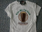 Guinness Kiss Me I'm Irish White Juniors Ladies T-Shirt
