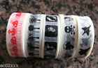 Washi Masking Craft Decorative Scrapbook Tape 5 Designs Toadstool Plane Trees 6m