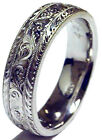 HAND ENGRAVED LADY'S SOLID PLATINUM 6MM WEDDING BAND RING NEW FINGER SIZE 4-7.75