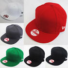 NEW ERA 9fifty MONO PLAIN FLAT PEAK SNAPBACK SNAP BACK BLACK RED BASEBALL CAP