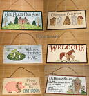 Wood Sign Plaque Welcome Sign Decor Country Rustic You Choose