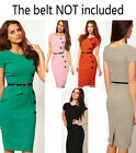 Summer Womens OL style button long sleeve slim fit pencil dress E531