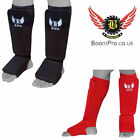 BooM Pro Elasticated Shin Instep Guards MMA KICK Boxing Martial Art Training UFC