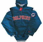 Miami Dolphins Vintage Logo Hooded Pullover Quarter-Zip Jacket Big on eBay