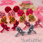 FUNKY SMALL MINI BUG STUD EARRINGS CUTE INSECT SWEET KITSCH KAWAII GIRLS STYLE
