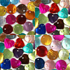 Mixed Coloured SHINY SHELL Charm BEADS - Choose from 10mm, 15mm, 20mm and Hearts