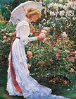 Springtime~counted cross stitch pattern #527~Victorian Fine Art Ladies Chart