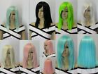 cosply club ramp bangs full synthetic straight womens mens wigs with wig cap new