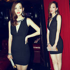 Sexy Womens Deep V-neck Low-cut Backless Mini Dress Cocktail Party Stylish Beads