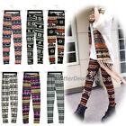 B20E  Hot Women Fashion Snowflake Reindeer Knitted Warm Leggings Tights Pants