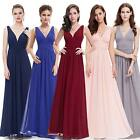 Domestic Pick Sexy Double V-neck Long Formal Bridesmaid Evening Dress 09016