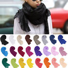 Fashion Women Girls Candy Colour Crinkle Long Soft Scarf Wrap Shawl Stole