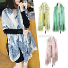 Fashion Vintage Women Ladies Totem Flowers Long Scarf Shawl Wrap
