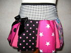GirlsBlack,white,pink mixed floral,stars,spots,check,Cheerleader Skirt,punk,goth