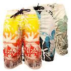 Mens Boys Cargo Printed Swimming Short Sports Beach Casual Hawiian Swim Shorts