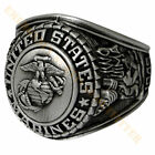 Marine Corps Insignia Ring 18K Gold Plated with Rodinium Finish