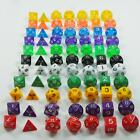 DUNGEONS & DRAGONS RPG Dice Game set of 7 sided die D4 D6 D8 D10 D12 D20 Bag
