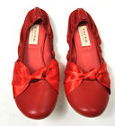 DO NI Ballet Flat Shoes 100% Animal Free Vegan Friendly Shoes Red 6 9 10 NEW