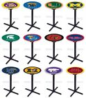 Choose NCAA K-M Team 36 Tall L211 Black X Style Base Pub Bar Table - 28 / 36 Top