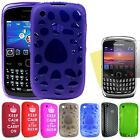 Stylish Designs Silicone Gel Case Cover FOR Blackberry Curve 8520 + Screen Film