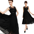 WOMEN'S VINTAGE LACE CHIFFON LONG MAXI RUFFLE EVENING BALL GOWN DRESS Sundress